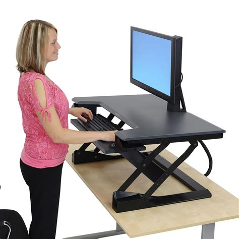Sit Stand Desk Top Workstation Workfit T Sit Stand Desktop Workstation By Ergotron Ergocanada Detailed Specification Page
