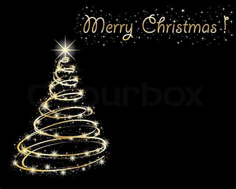 christmas tree  black background stock vector colourbox