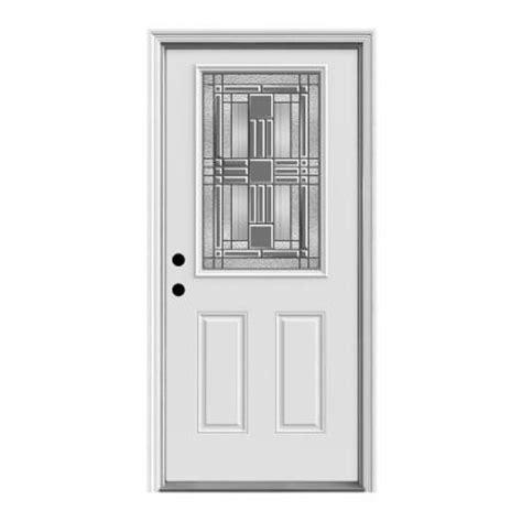 Home Depot Steel Exterior Doors Jeld Wen Cordova Half Lite Primed Steel Prehung Front Door P26910 The Home Depot