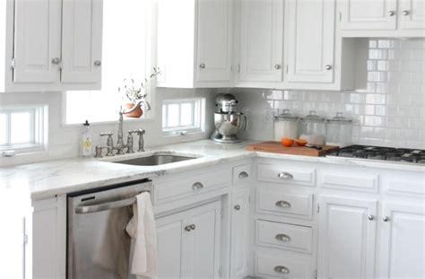 White Carrara Marble Kitchen Countertops by Which Countertops Should I Use In A White Kitchen Which