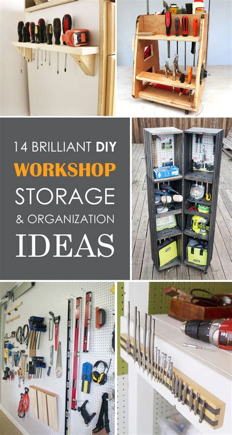 brilliant diy workshop storage organization ideas