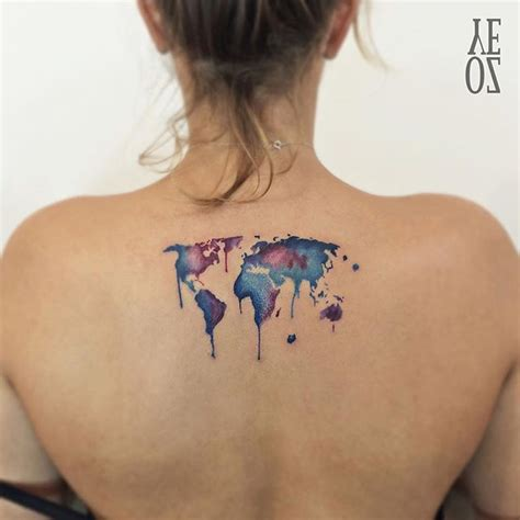 watercolor tattoo upper back 35 cool back tattoos