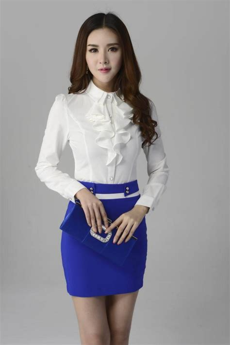 Fashion Blouse Set formal skirt suits business suits with skirt and
