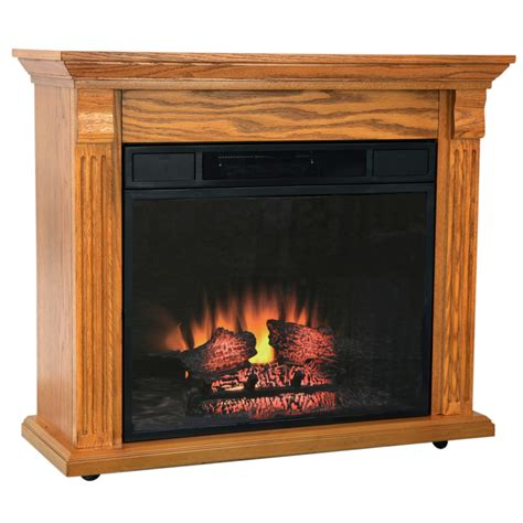 Oak Electric Fireplace Electric Fireplace 1400 Heater Oak