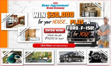 Home Improvement Giveaways - 2015 ford f 150 4 215 4 and 50 000 in home improvements plus 30 000 for taxes