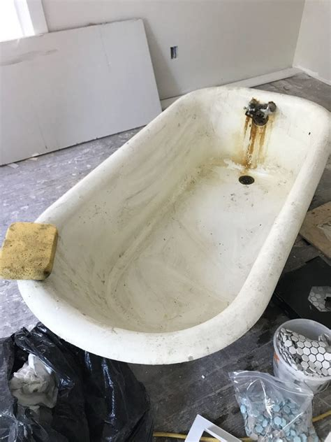 repaint bathtub how to refinish a nasty old clawfoot tub