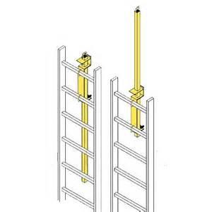 lp 4 ladder safety post yellow powder coat