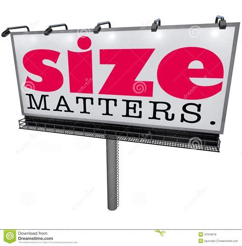 Size Matters by Size Matters Billboard Large Choice Most