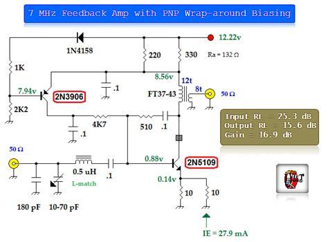 bipolar transistor rf lifier bipolar transistor feedback lifier 2 lifier circuit circuit diagram seekic