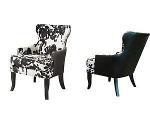 Faux Cowhide Chairs - new cowhide faux leather upholstered accent club chair