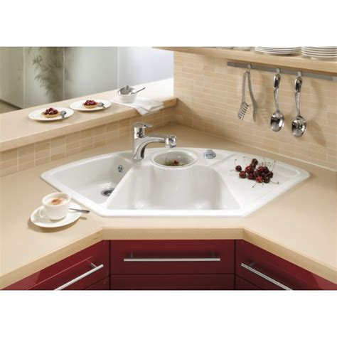 Villeroy & Boch Solo Corner 1075mm x 600mm 2.5 Bowl Classicline Ceramic Inset Kitchen Sink 6708