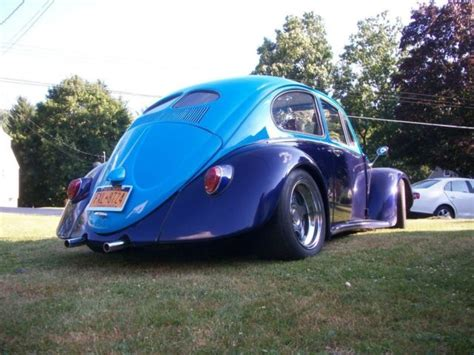 volkswagen beetle classic coupe  blue  sale classic beetle custom