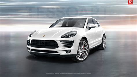 2015 porsche macan s white render porsche macan s in white with sportdesign wheels