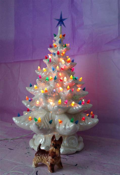 ceramic table top christmas tree white ceramic christmas tree