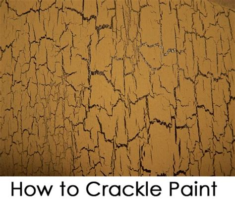 how to crackle paint