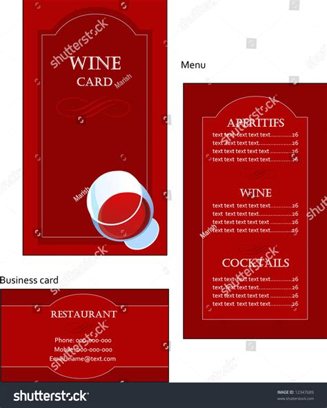 wine business card templates free template designs of wine menu and business card for coffee