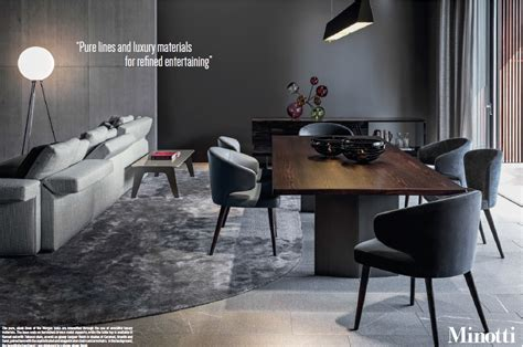 Dining Room Table And Chairs Sale minotti special 9 pages ad campaign in oct wallpaper