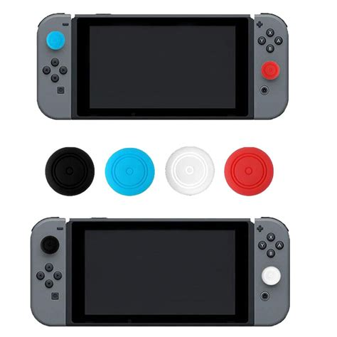 Nintendo Switch Silicone Analog Grip 4pcs silicone gel thumb stick grip caps gamepad analog joystick cover for nintend switch ns