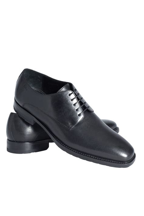 hugo shoes hugo black label smart shoes in black and brown cladd