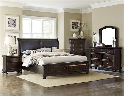 4 pc bedroom set 4 pc homelegance faust storage bedroom set