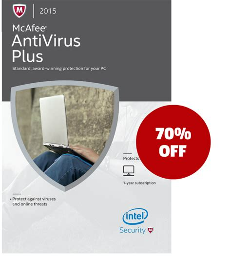 buy mcafee antivirus plus 2015 1 year protects 1 pc