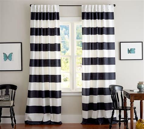black and white striped outdoor curtains window treatments black and white outdoor drapes