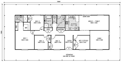 five bedroom floor plans 5 bedroom kit home meadow view the owner builders kit