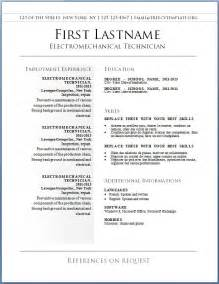 Free Sample Resume Templates Learnhowtoloseweight Net