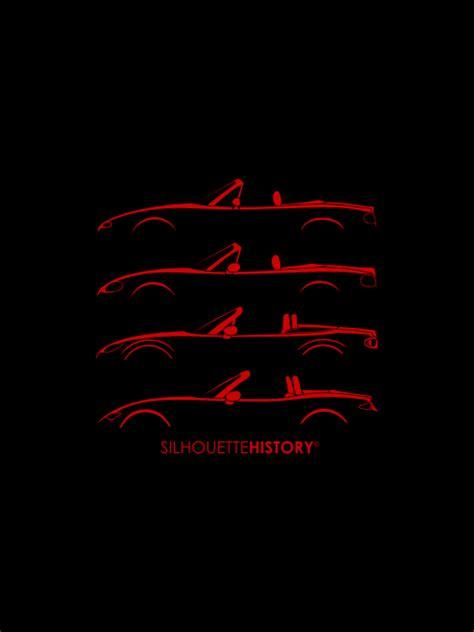 miata logo silhouettehistory japanese roadster silhouettehistory