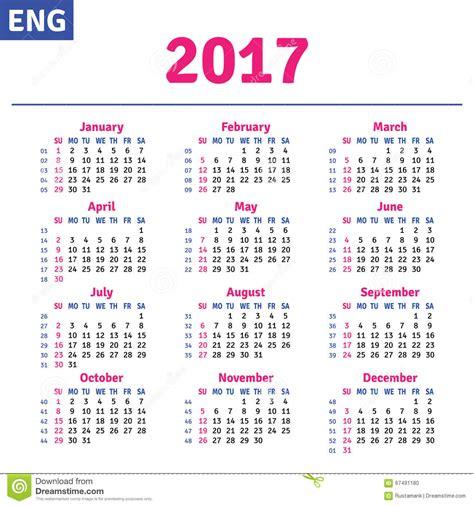 Calendã Oficial 2017 Portugal Calendar 2017 Stock Vector Image 67491180
