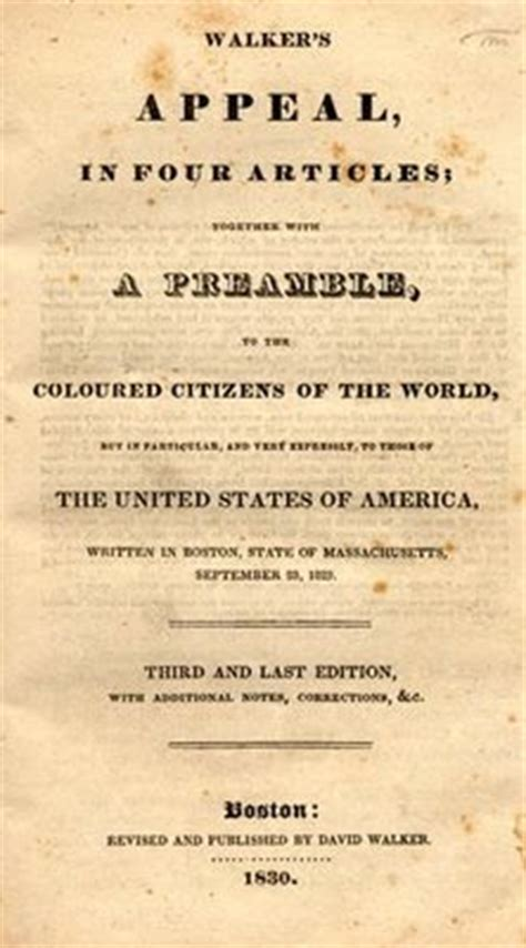 appeal to the colored citizens of the world dr malachi z york david walker black nationalist and
