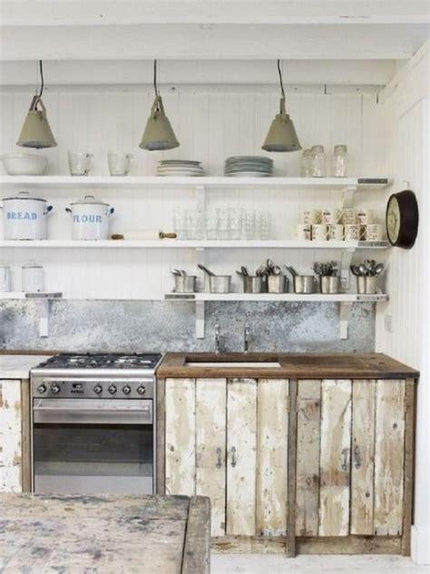 fa軋des de cuisine tendance d 233 co le bois brut s invite dans la cuisine