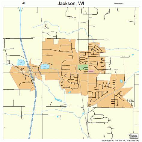jackson map jackson wisconsin map 5537675
