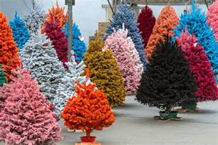 flocked christmas trees stock photo 169 terivirbickis