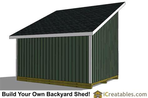 lean   loft shed plans