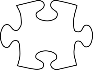 large puzzle template white puzzle large clip at clker vector