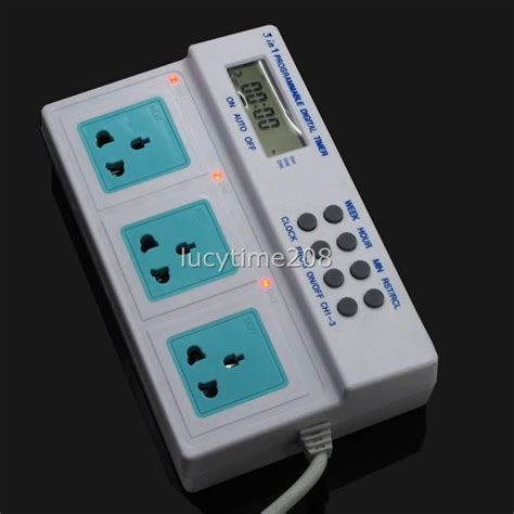 Timer Lu Aquarium 220v 3680w timer time switch socket for aquarium fish tank lights programmable ebay