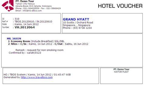 Hotel Gift Voucher Letter Format Travelbos Front Office Aplikasi Travel Program Travel