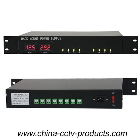 Rack Power Supply by 1 5u 8 Channels 12v Dc Cctv Rack Mount Power Supply