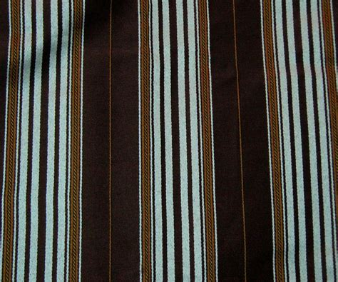 blue and brown curtains and drapes raymond waites capri brown blue stripe fabric shower