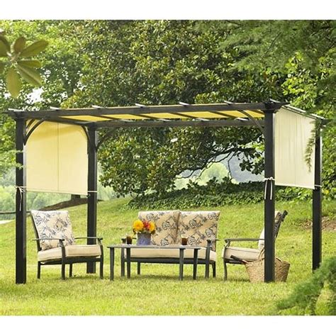 garden oasis curved pergola sears garden oasis deluxe pergola 2010 replacement canopy