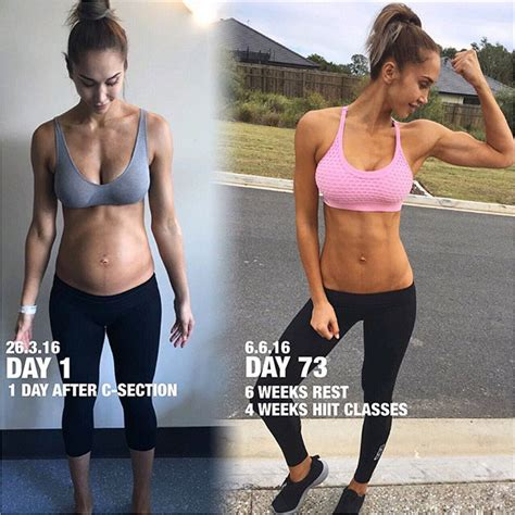six pack abs after c section fit mom chontel duncan compares her ripped abs today to