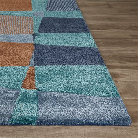 indie pattern blue green rug contemporary abstract pattern area rug blue green 2