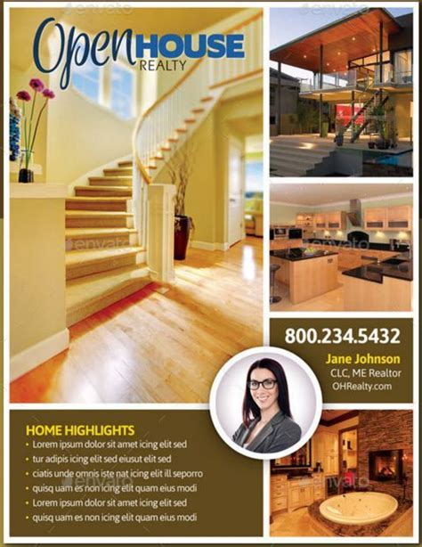 open house brochure template 17 best ideas about open house brochure on