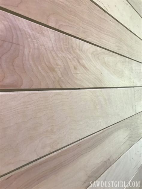 plywood plank walls creating  groove planks sawdust girl