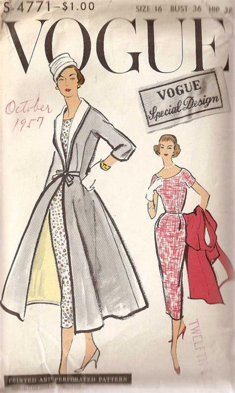 pattern vogue vintage vintage vogue v8875 sewing patterns pinterest woman