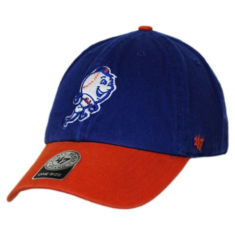 47 brand new york mets mlb clean up strapback baseball cap