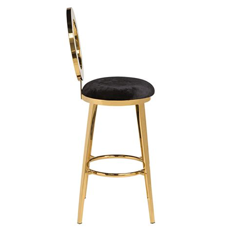 Gold Bar Stool by Quot O Quot Bar Stool Gold Black High Style