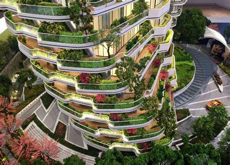 Indoor Garden Design Pictures Agora Garden A Twisting Plant Filled Tower In Taipei