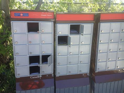 post mail boxes canada post community mail boxes raided by screwdriver